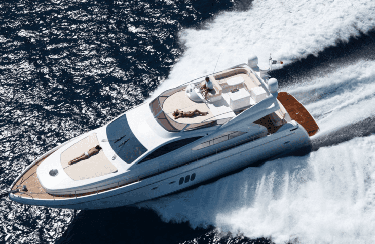 Yacht abacus bianco per vacanze lusso
