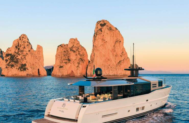 Yacht for sales in italian sea waters